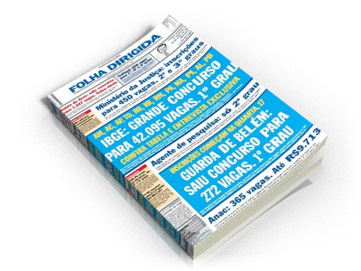 Jornal Folha Dirigida Concursos Públicos