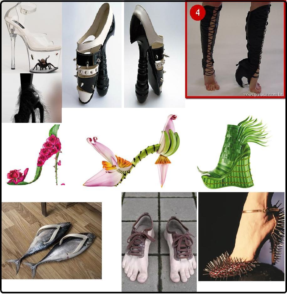 Sapatos Diferentes e Engraçados