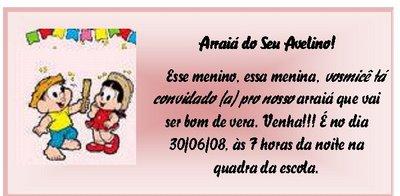 Tag Frases De Convite De Festa Junina Infantil