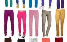 Moda Calças Coloridas Feminina