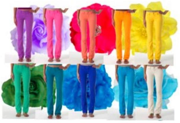 Calças Coloridas Fluor