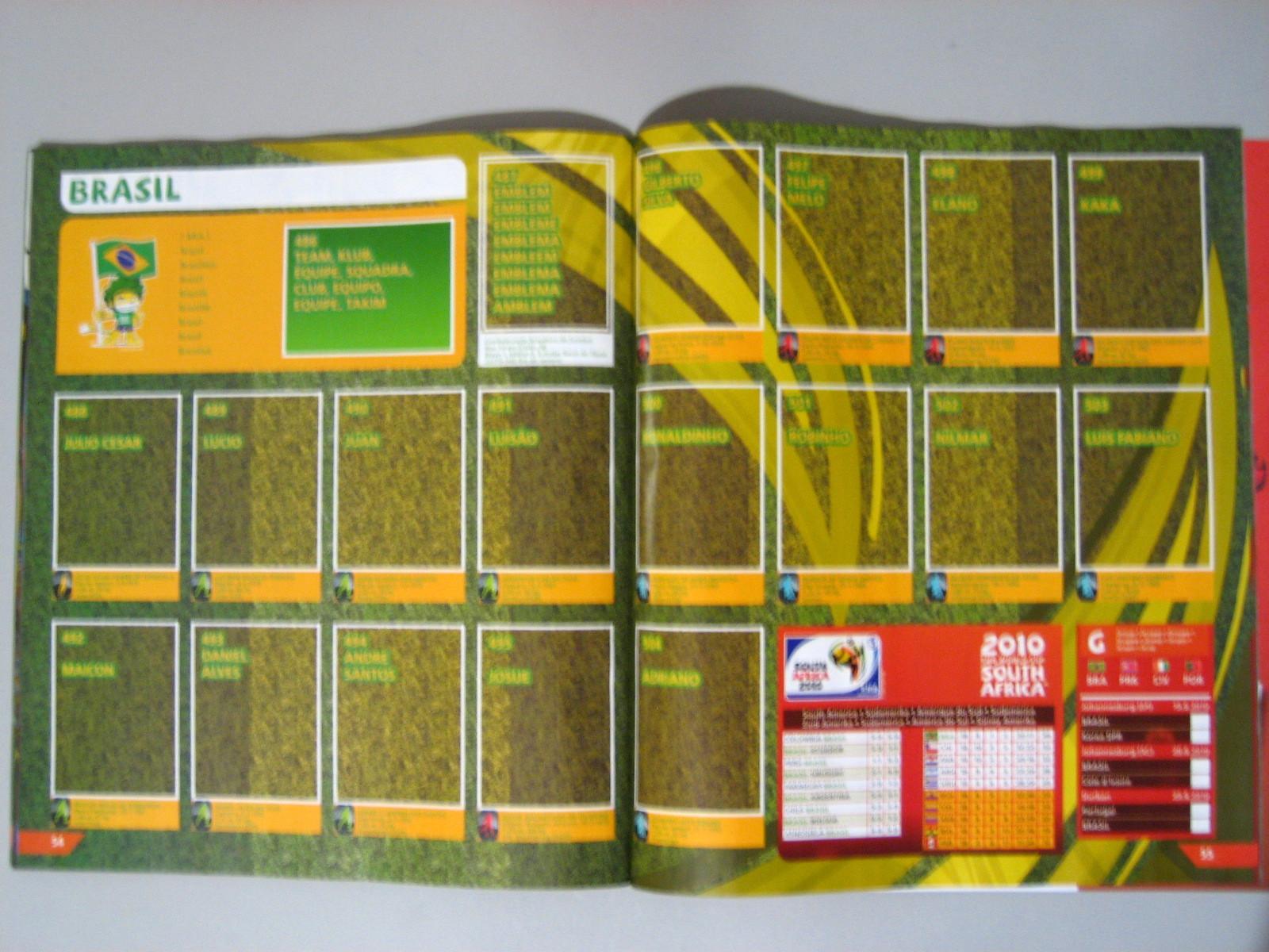 Álbum de Figurinha Copa do Mundo 2010 Online