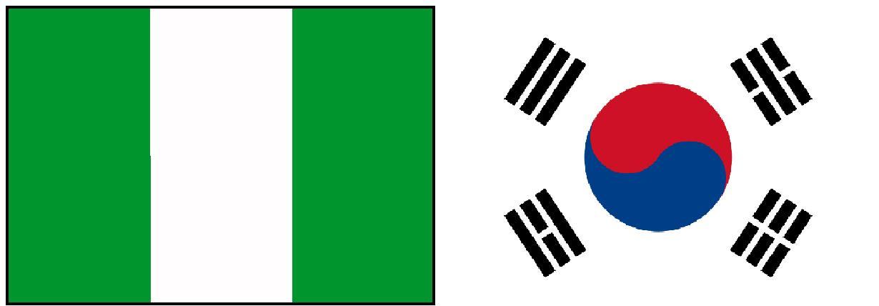 Nigéria e Coréia do Sul Ao Vivo – Copa do Mundo 2010