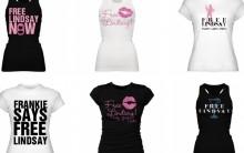 Camisetas Para Liberdade De Lindsay Lohan