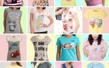 T-shirts Nova Moda Feminina
