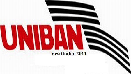 Uniban – Vestibular 2011 – Inscrições