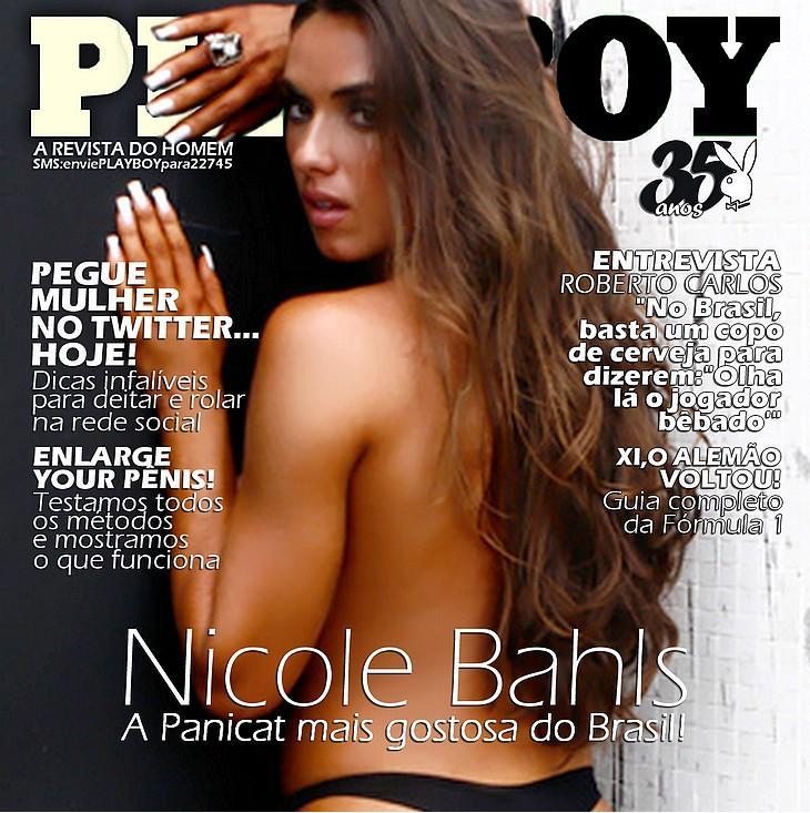 Capa Da Playboy Com Nicole Bahls | Outubro
