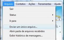 MSN Como Enviar ou Receber Arquivos