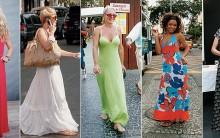 Vestido Longo Moda Verão 2011
