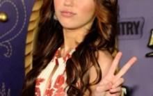 A estrela Miley Cyrus no  Brasil em 2011