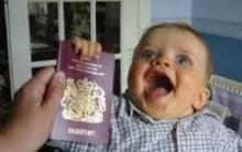 Passaporte Para Bebês e Crianças