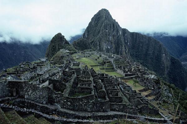 Os Turistas das Ruínas Machu Pichu