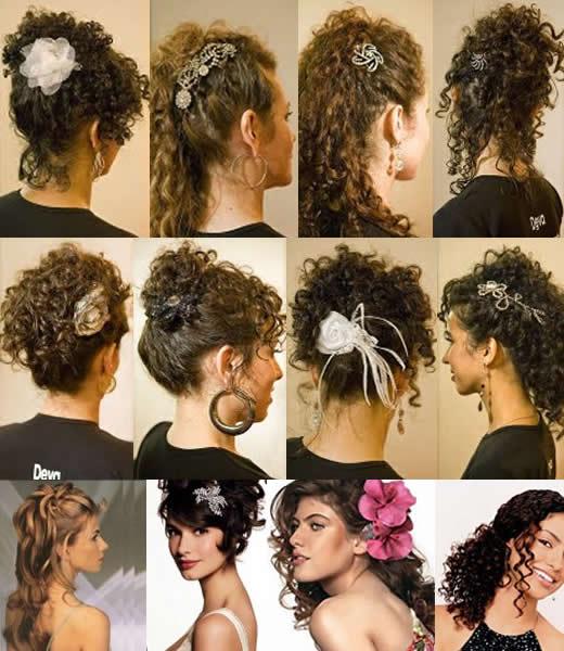 Penteado Para Cabelos Cacheados e Ondulados- Dicas e Fotos