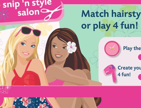 Barbie- Jogo de Salão de Beleza Barbie- Jogar