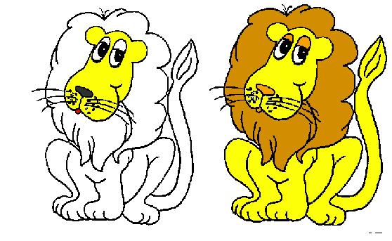 Desenho de Leão Para Colorir e Imprimir Online