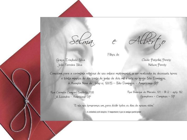 Frases e Mensagens Para Convite de Casamento