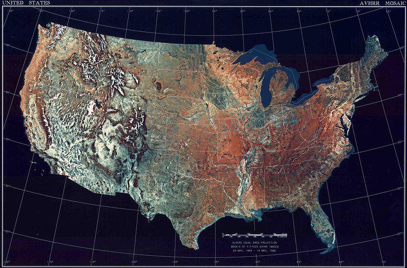 Mapa Territorial dos Estados Unidos