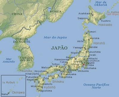 Mapa Territorial do Japão