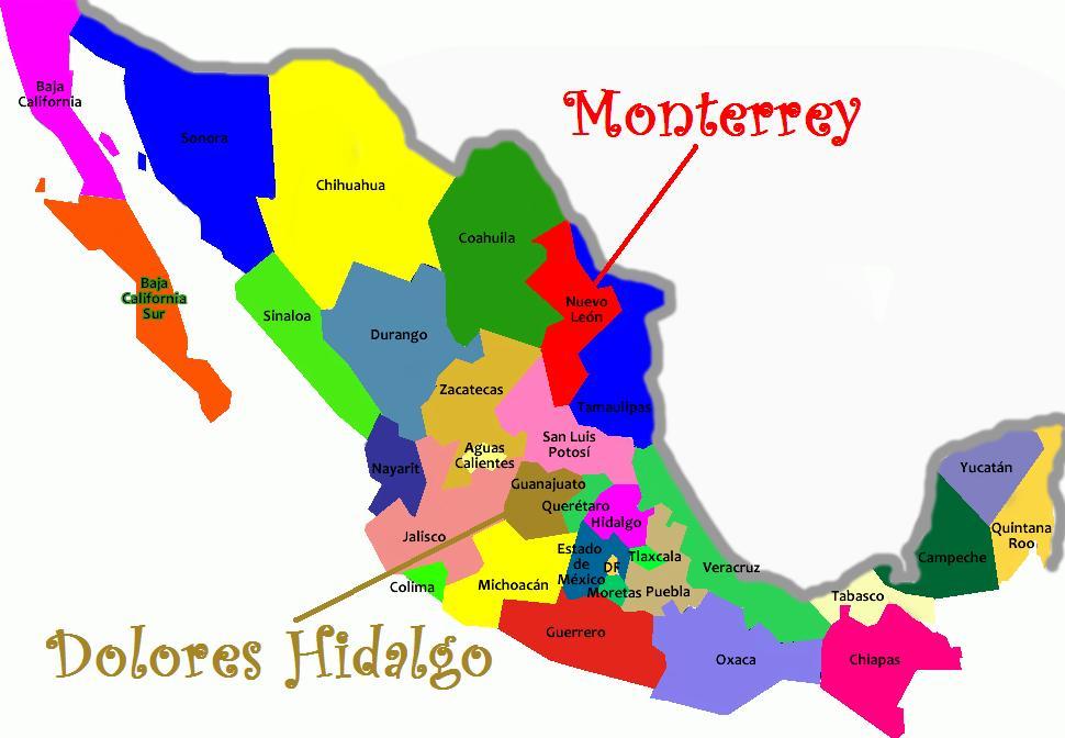 Mapa Territorial do México