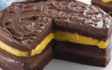 Bolo de Chocolate de Creme de Maracujá  – Receita
