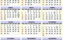 Feriados de 2012 – Calendário de Feriado Nacional