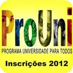 ProUni 2012- Inscrições e Resultados dos Aprovados 2012