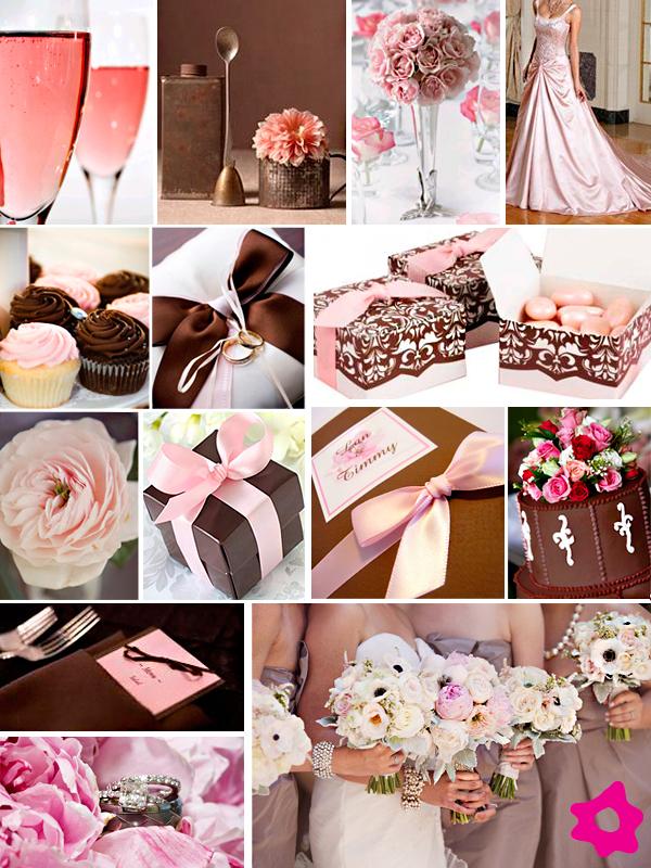 Decoração de Casamento Rosa e Marrom para 2012- Fotos,Tendências