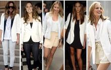Moda Blazer Branco para o Verão de 2012