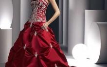 Vestidos de Noivas Vermelhos 2012- Modelos e Fotos