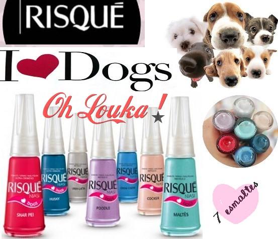 Nova Linha de Esmaltes Risqué 2012 – I Love Dogs