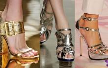 Tendências de Sapatos Metalizados para 2012