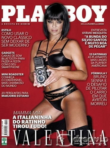 Valentina Francavilla na Capa da Revista Playboy 2012- Ensaio, Fotos e Vídeo