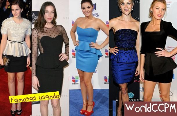 Tendências Peplum para 2012 – Modelos