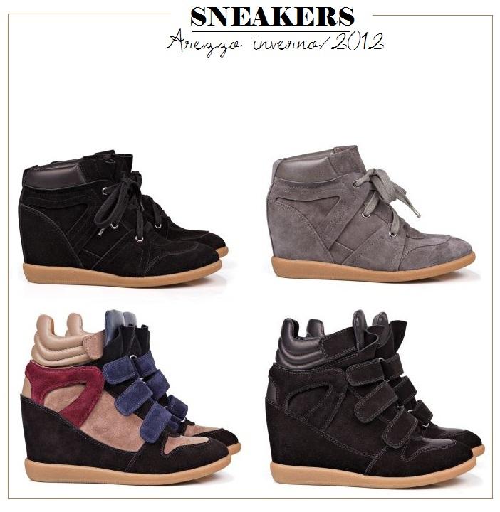 Arezzo Lançamentos para o Inverno 2012 Tênis Sneakers – Fotos, Preço, Tendências