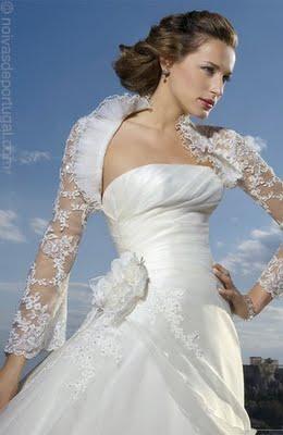 Vestido de Noiva Com Bolero de Renda 2012- Modelos