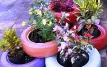 Decoração de Jardim com Pneus –  Dica