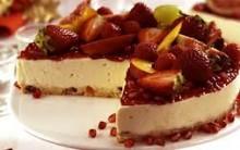 Receita Torta Gelada de Panetone e Frutas (Cheesecake) Passo a Passo