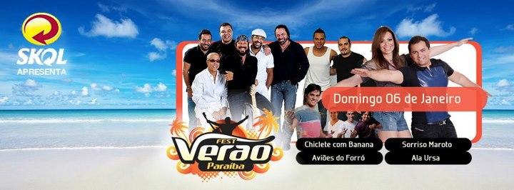 Fest Verão Paraíba 2013 – Programação, Compra de Ingressos, Shows e Atrações