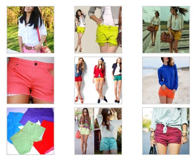 Shorts Coloridos Verão 2013 – Dicas, Modelos