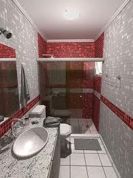 banheiro decoraçao em vermelho