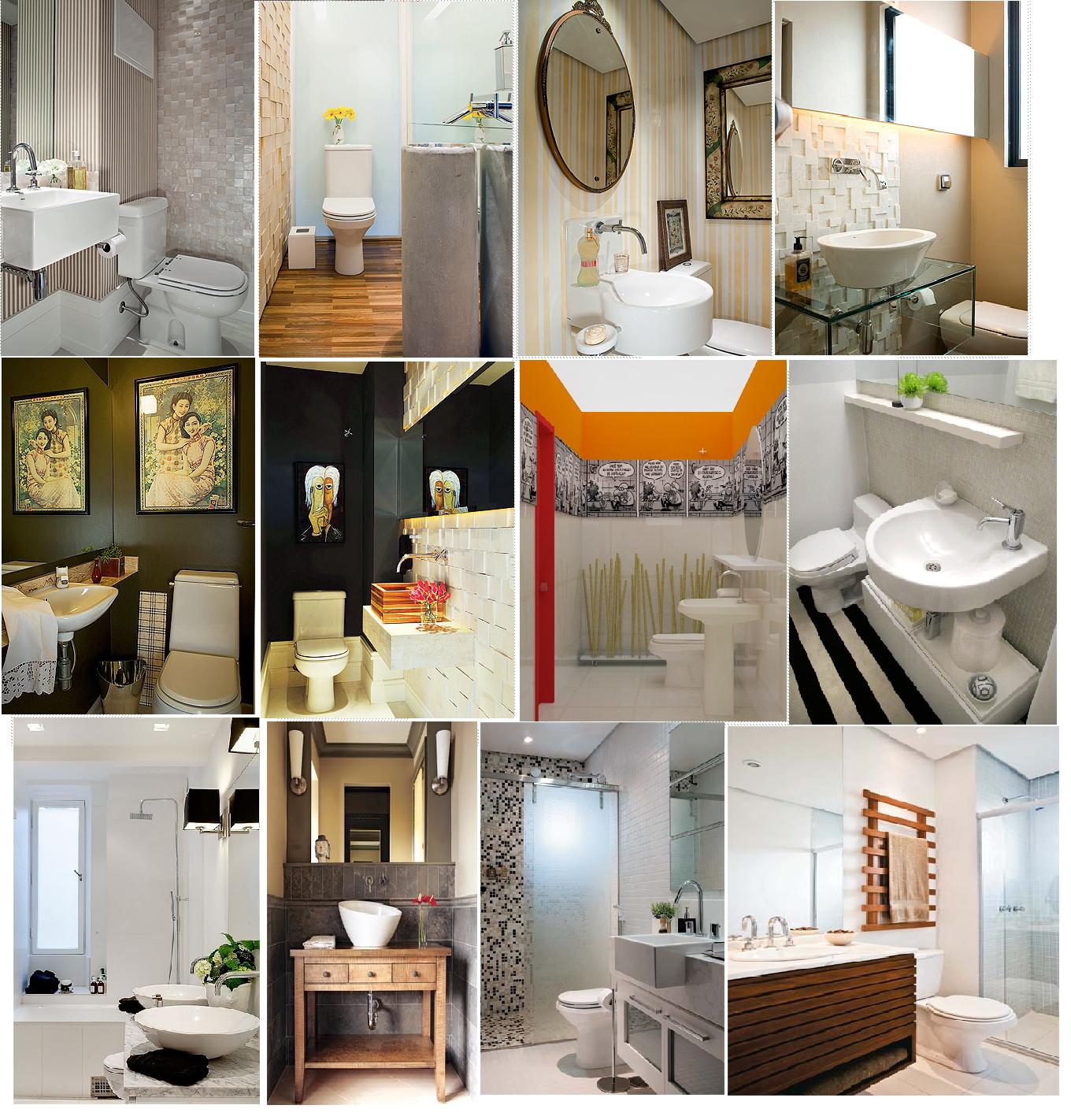 Decoração de Banheiros Pequenos – Dicas para Decorar com as Tendências 2013
