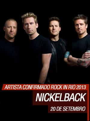 Banda Nickelback Estará no Rock in Rio 2013 – Ver Informações