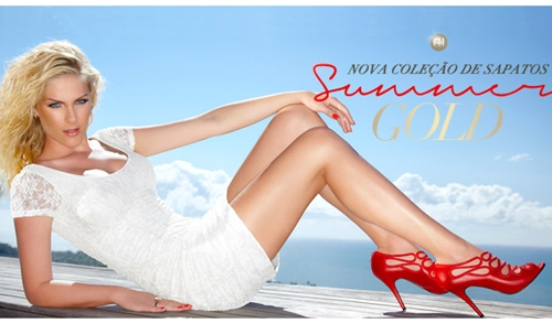 Coleção de Calçados Ana Hickman Summer Gold 2013 – Fotos, Modelos, Loja Virtual