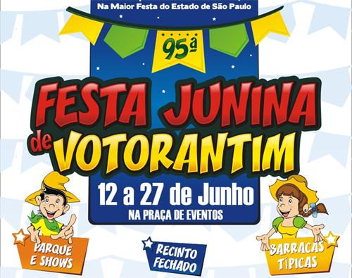 Festa Junina de Votorantim 2013 – Programação, Atrações, Datas