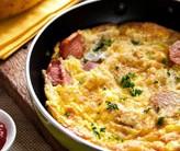 Receita de Omelete de Salsicha, Queijo e Salsa – Ingredientes
