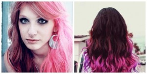 cabelo longos rosa