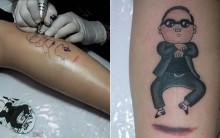 Tatuagem de Gangnam Style – Ver Fotos