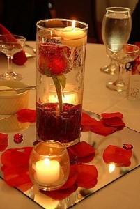 velas decorativas para uma bela noite