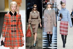 xadrez tendência do inverno 2013 modelos e fotos