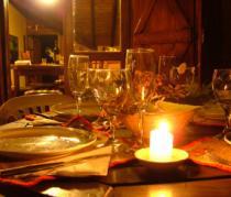 Mesa com vela